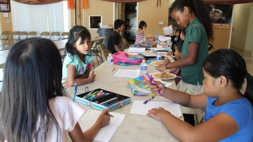 After school program for children at the activity center